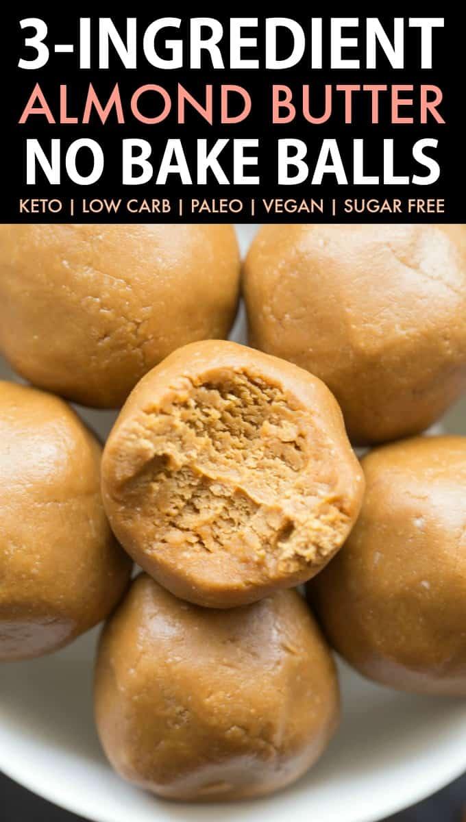 almond butter keto balls