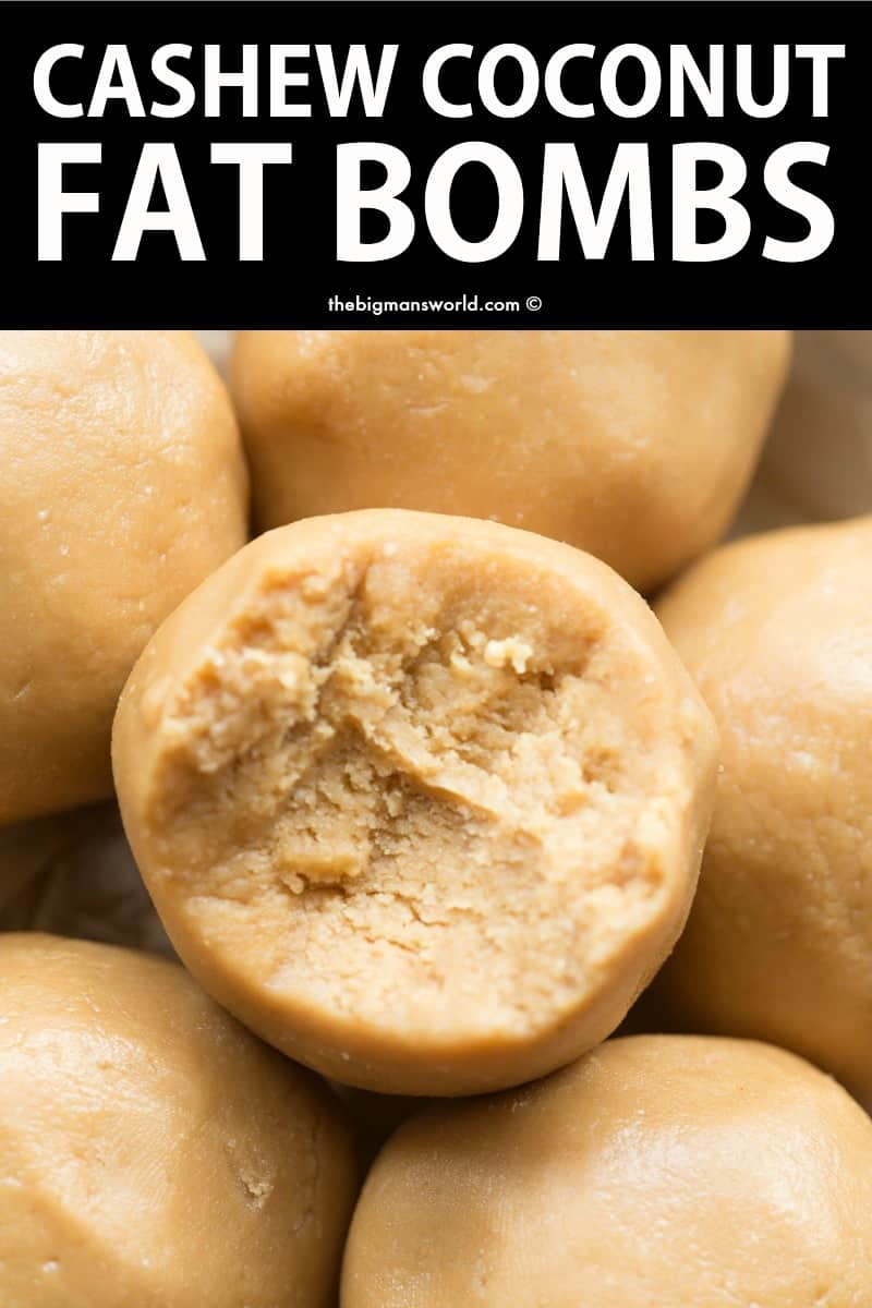 cashew butter fat bombs
