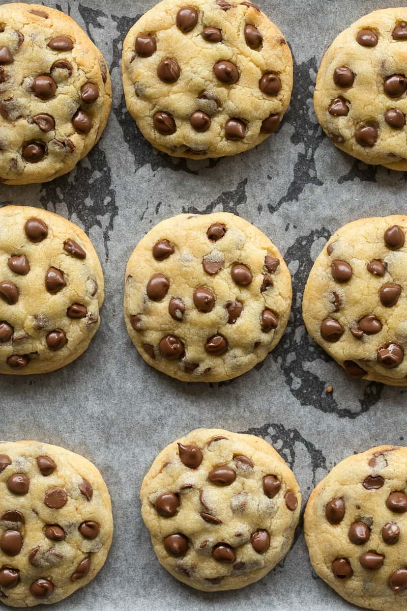 chewy vegan chocolate chip cookies
