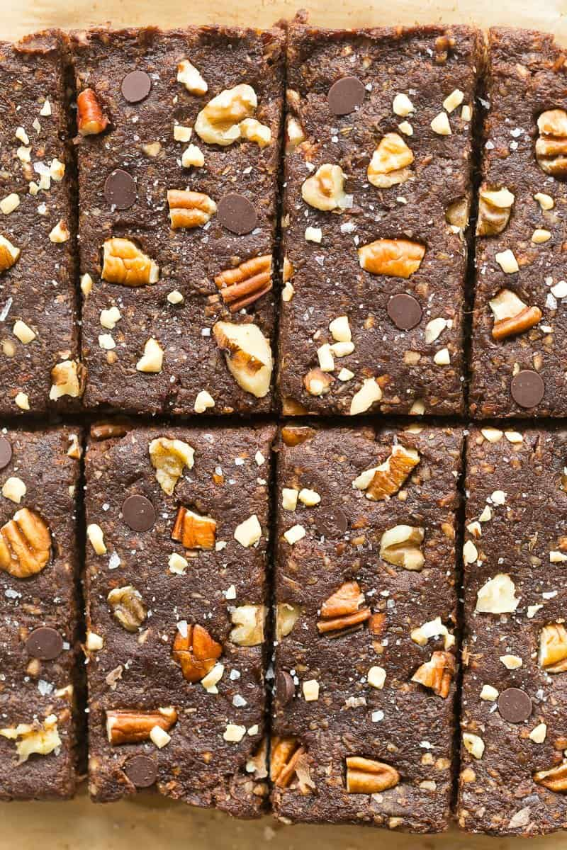 whole30 raw brownies with dates