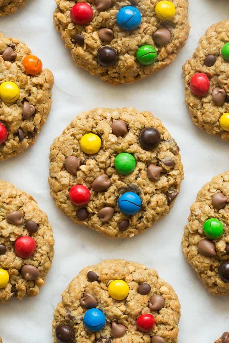 no flour monster cookies
