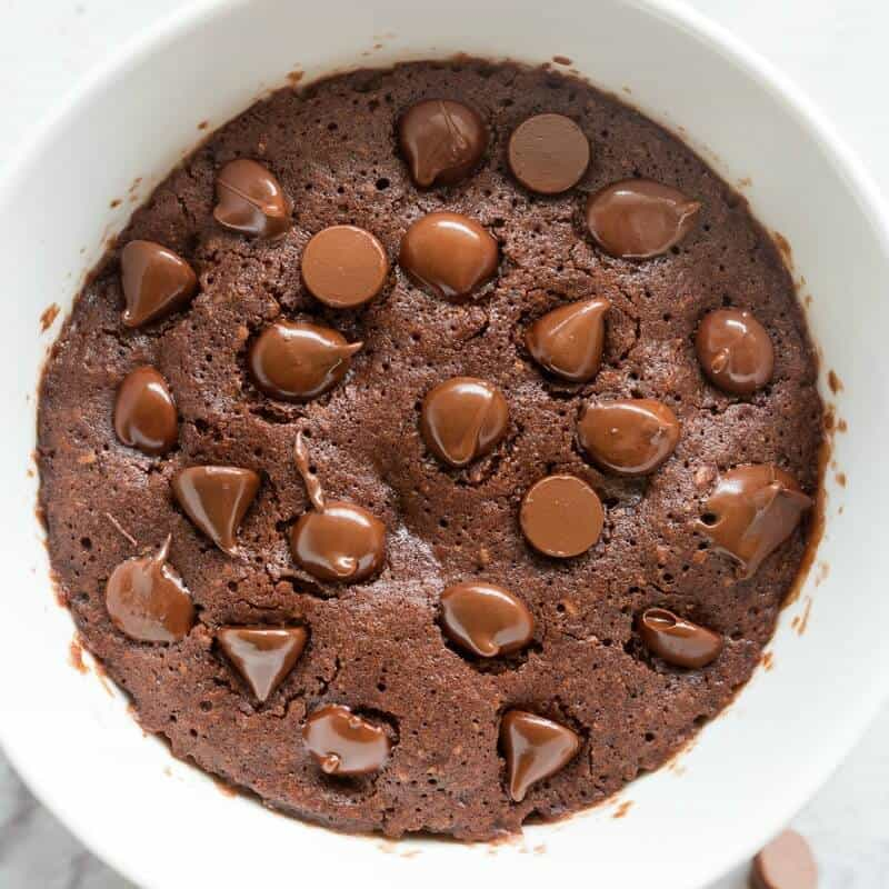 100 Calorie Chocolate Mug Cake (No egg, no milk!) - The ...
