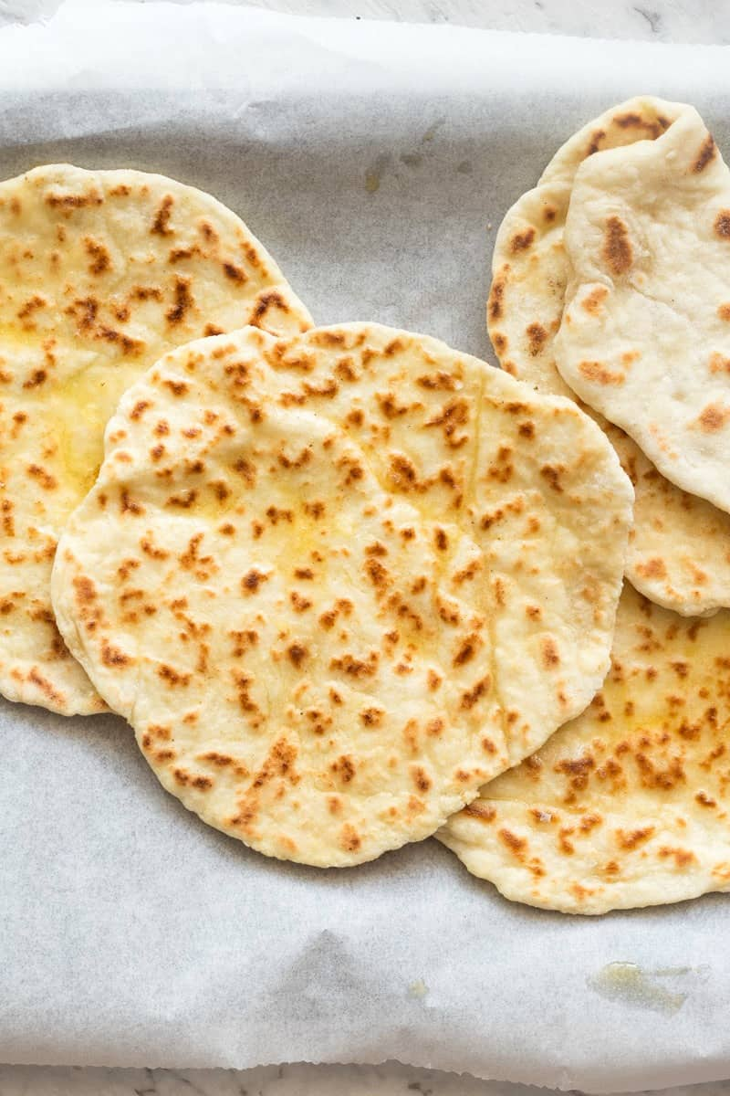 two ingredient dough flatbread