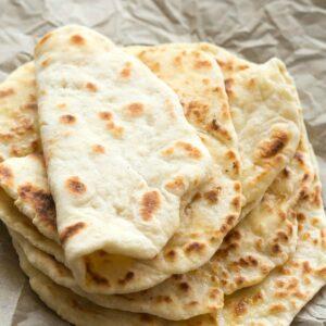 2 ingredient dough naan bread