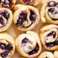 yeast free blueberry cinnamon rolls