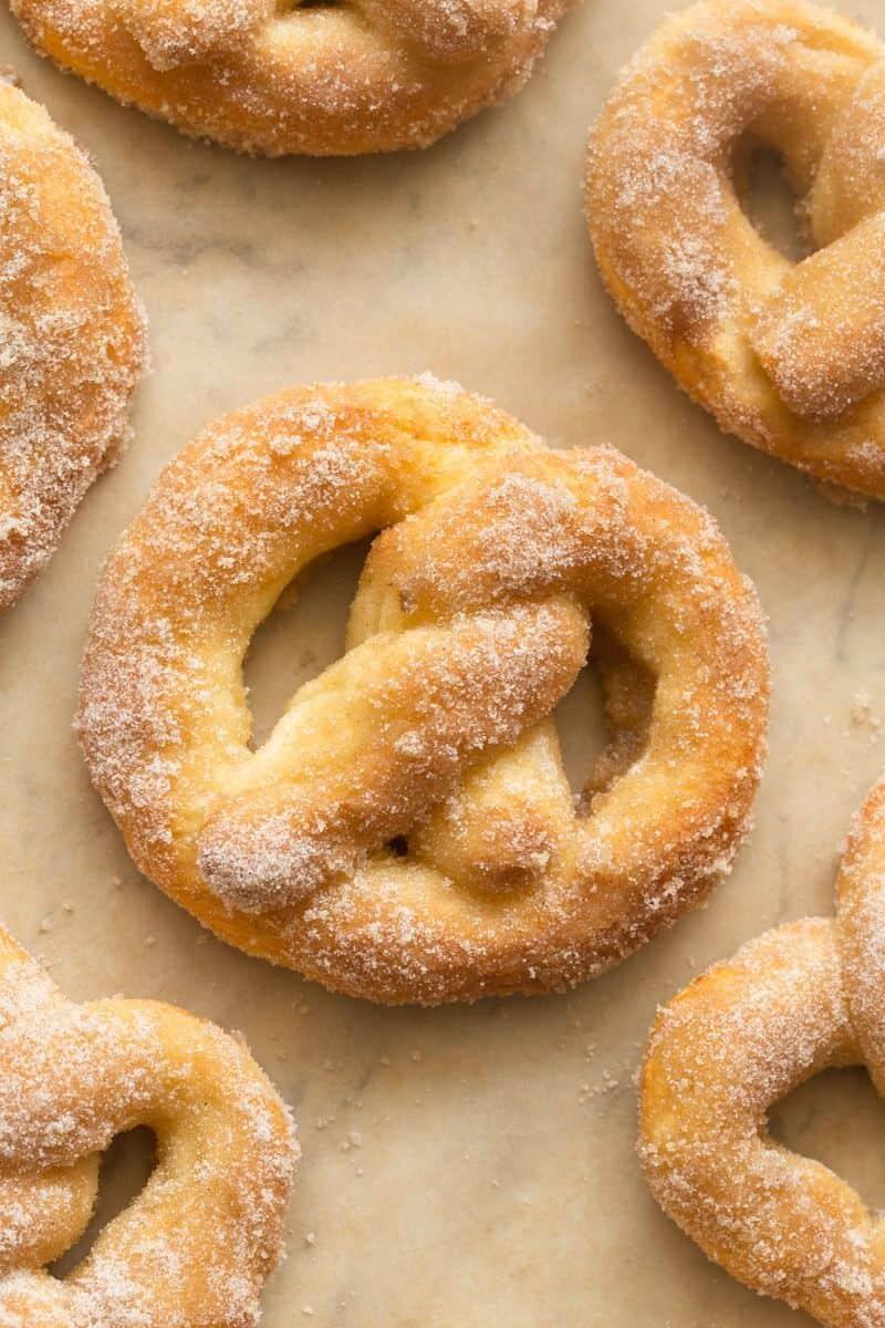 healthy cinnamon soft pretzels