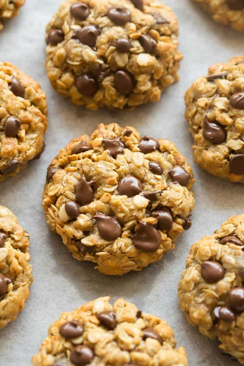 no flour peanut butter oatmeal cookies