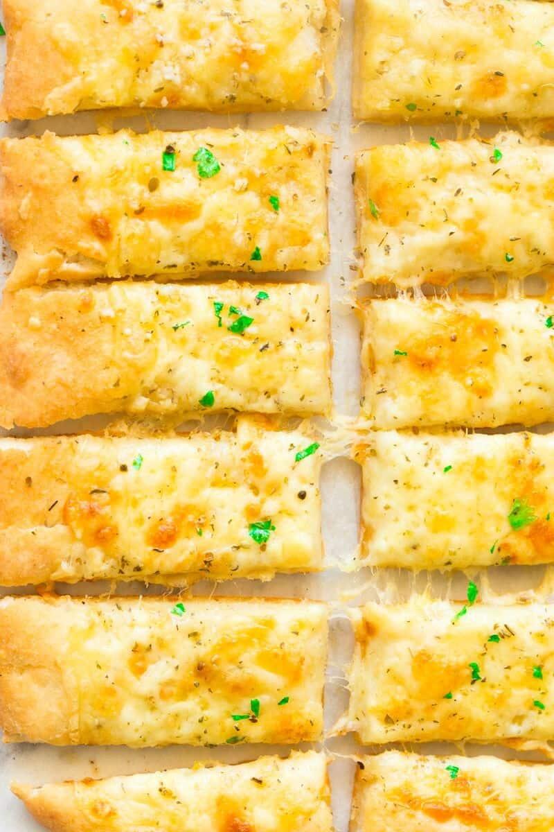 pizza dough cheese garlic breadsticks