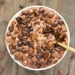 chocolate protein overnight oats