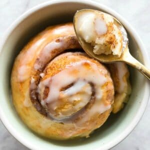 single serve cinnamon roll