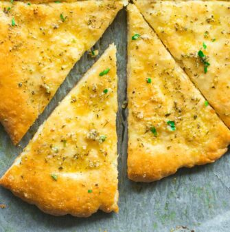 pizza dough garlic bread