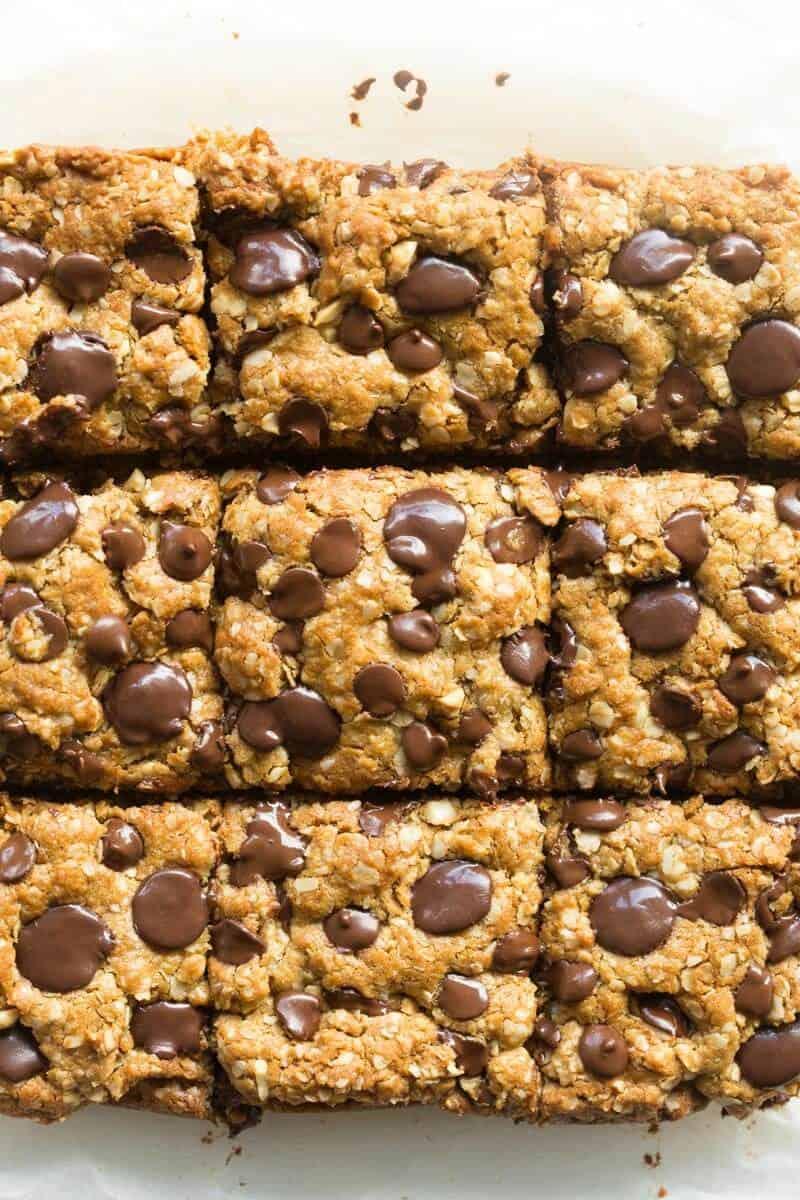 vegan oatmeal cookie bars