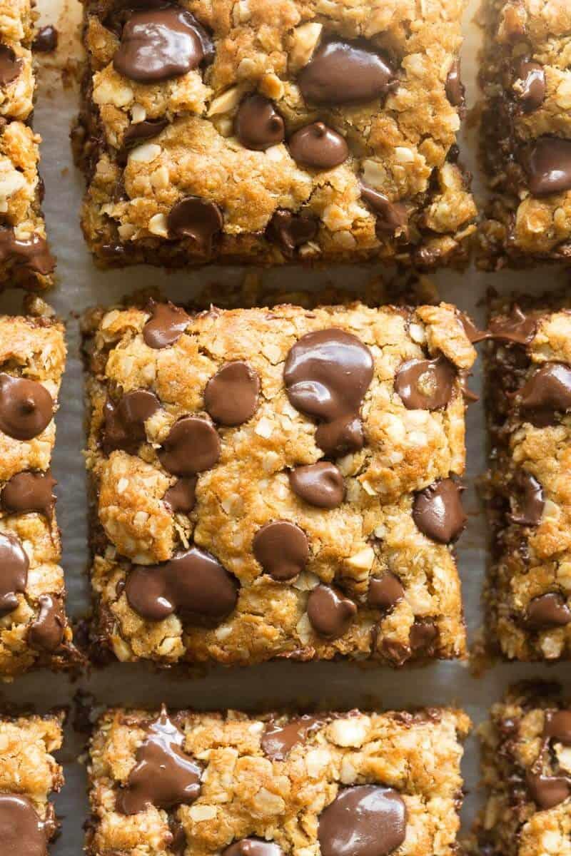 Vegan gluten free oatmeal cookie bars