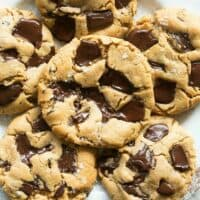 flourless paleo chocolate chip cookies