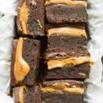 gluten free caramel brownies