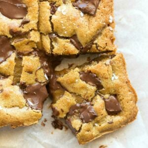 vegan chocolate chip blondies