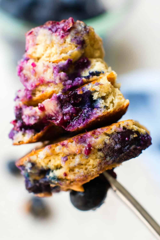 gluten free vegan blueberry pancakes