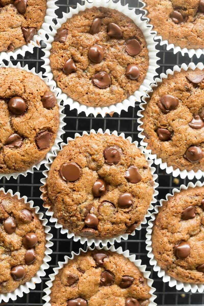 vegan gluten free zucchini muffins