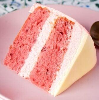 dairy free strawberry cake