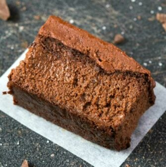 chocolate brownie with applesauce