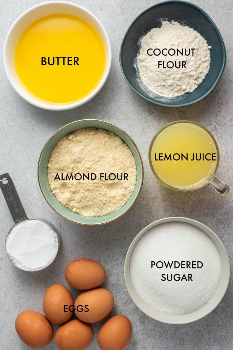 lemon bars ingredients