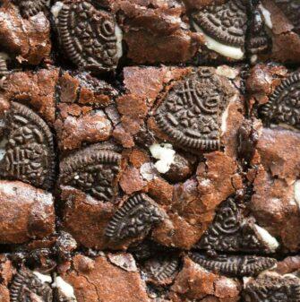 vegan brownies with oreos