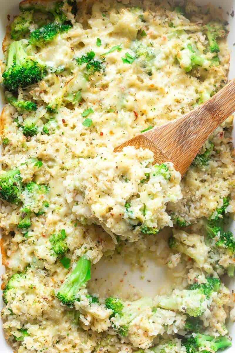 healthy broccoli rice casserole