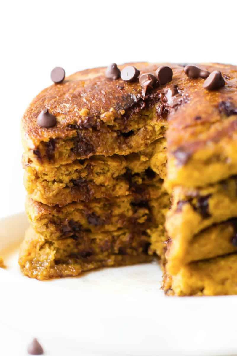 vegan pumpkin pancakes