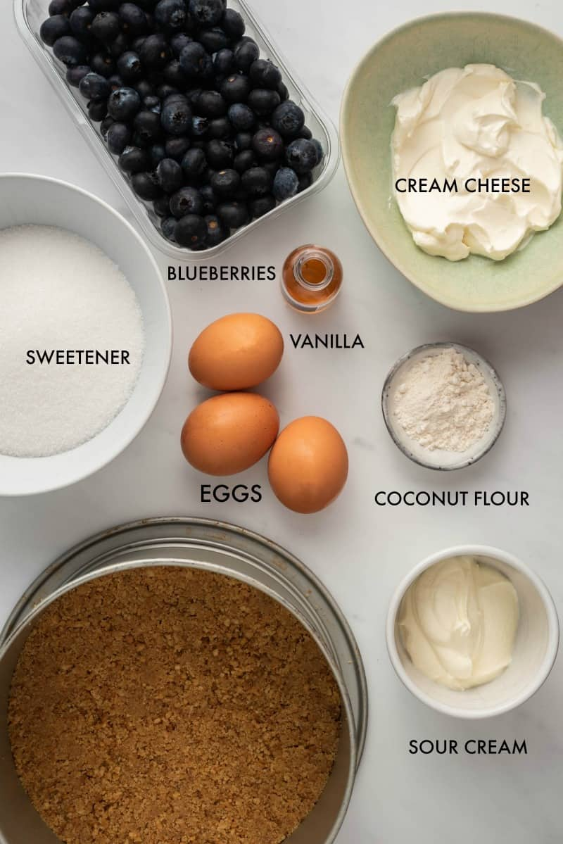 blueberry cheesecake ingredients
