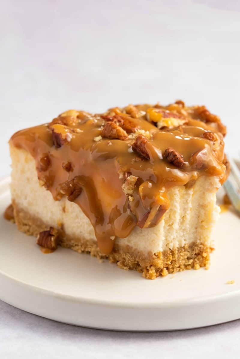 caramel pecan turtle cheesecake