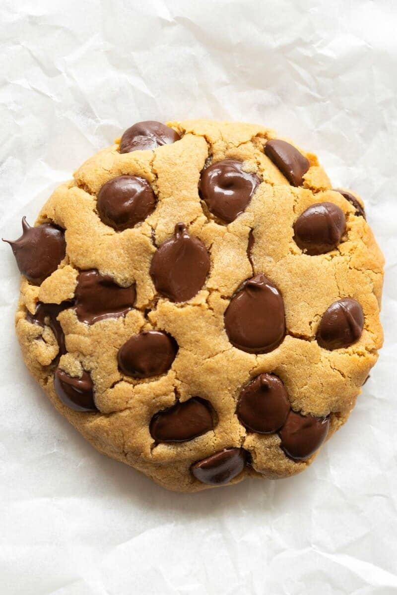 single serve chocolate chip cookie