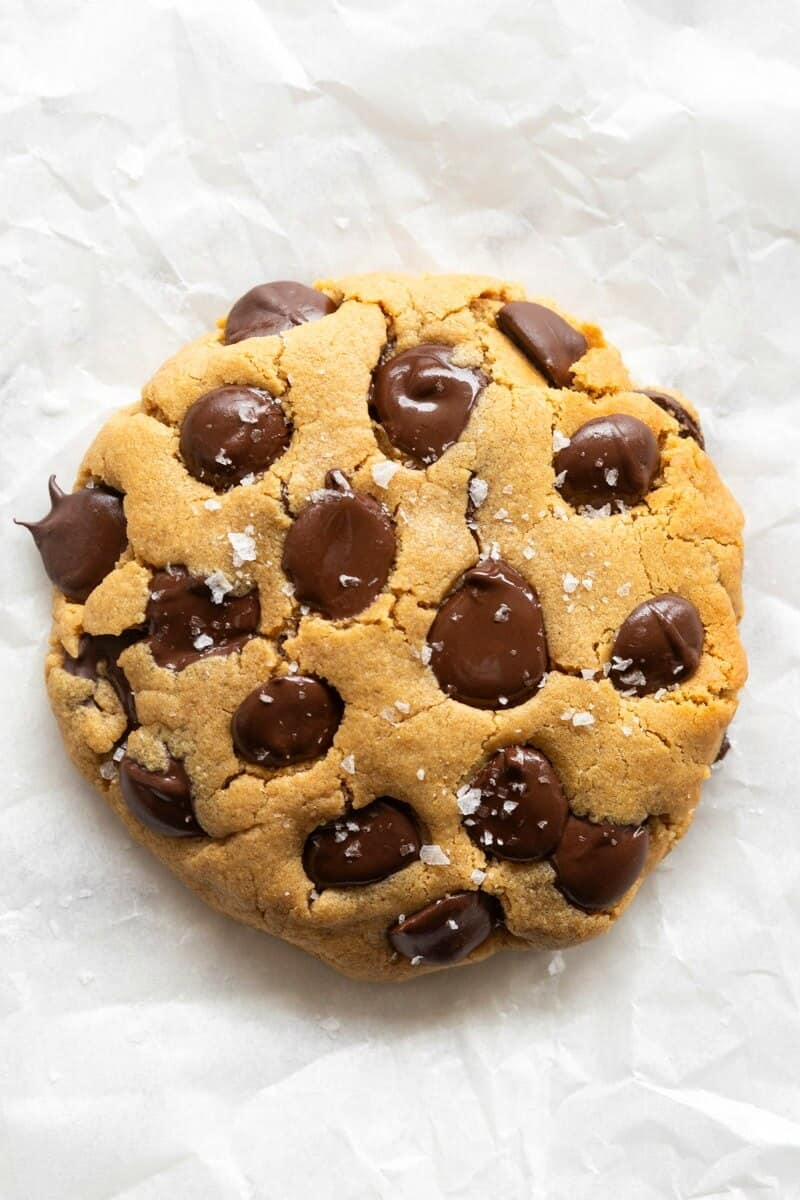 keto chocolate chip cookie for one