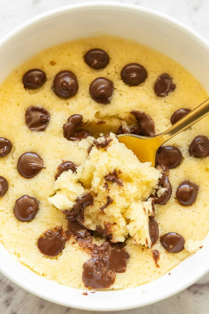 Chocolate Chip Mug Cake Under 200 Calories The Big Man S World
