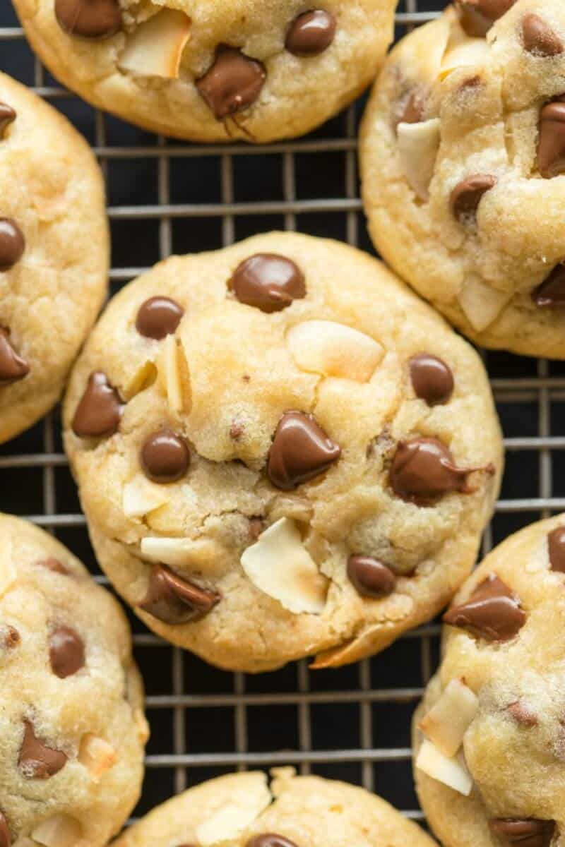 coconut and chocolate cookies