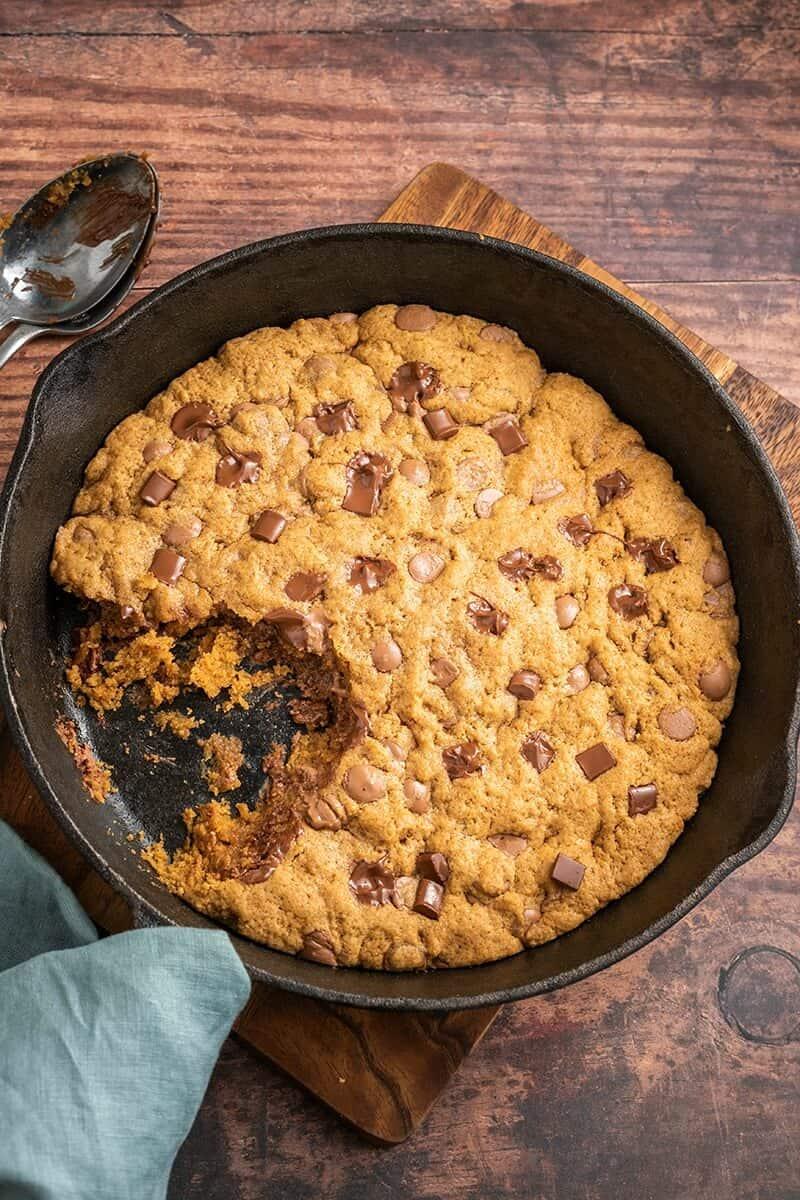 low carb skillet cookie