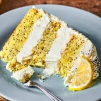 healthy lemon poppyseed cake