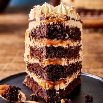 vegan snickers chocolate cake