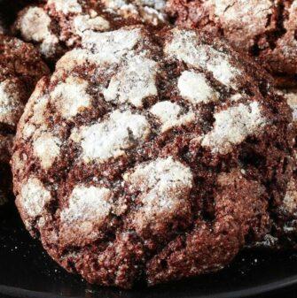 sugar free crinkle cookies