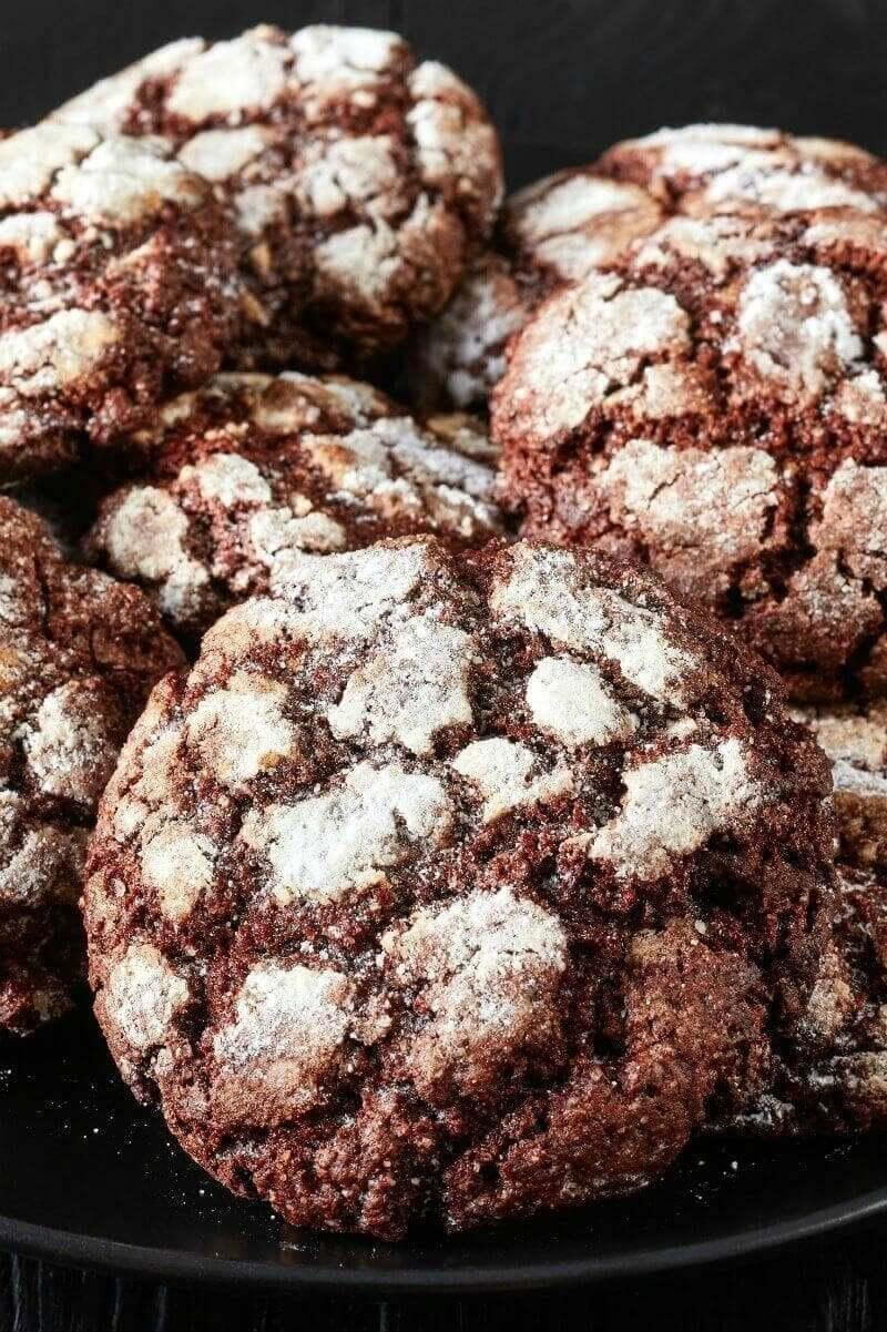 keto crinkle cookies