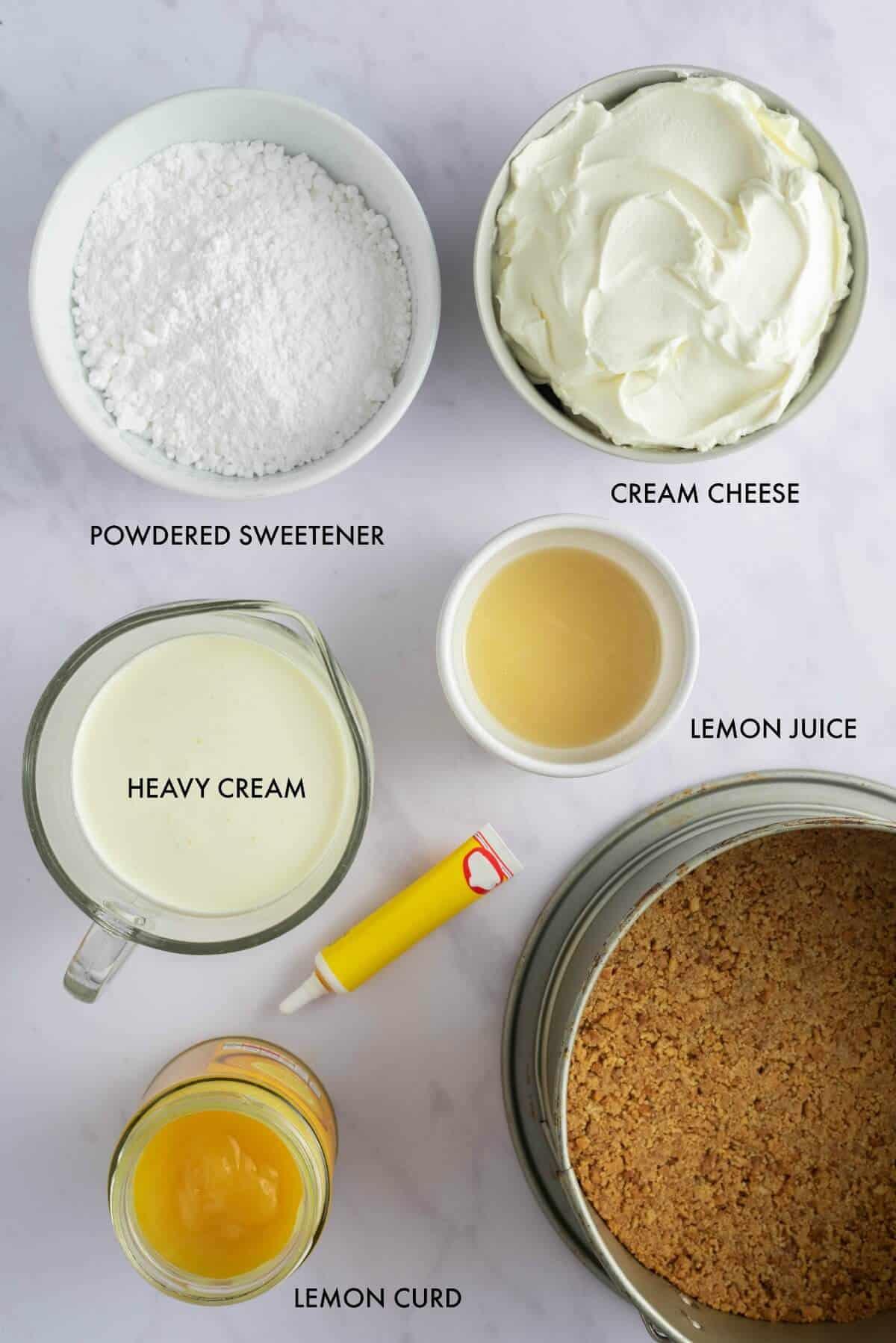 keto lemon cheesecake ingredients