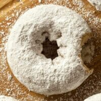 white powdered donuts