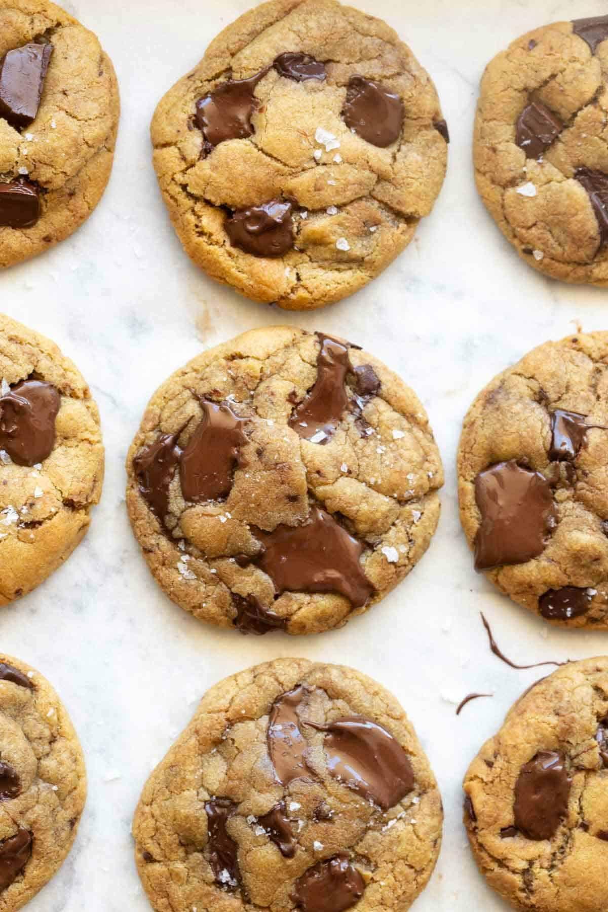 vegan brown butter chocolate chip cookies