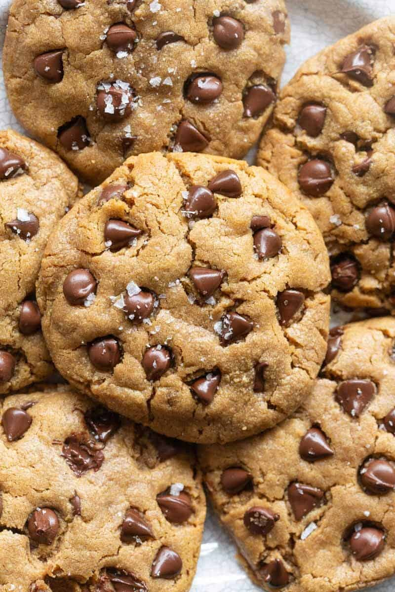almond flour peanut butter chocolate chip cookies