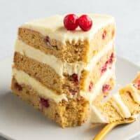 cranberry cake with orange