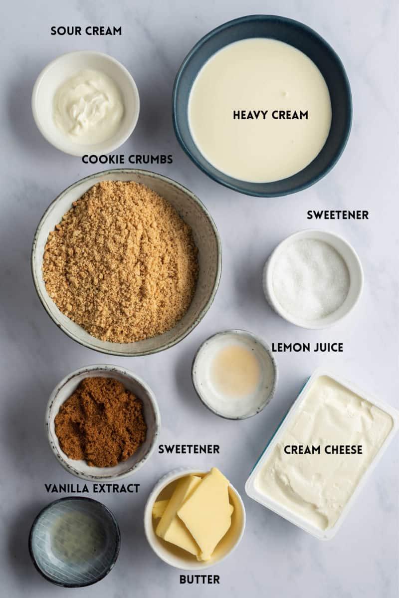 keto mini cheesecakes ingredients