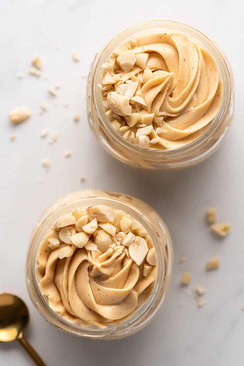 low carb peanut butter mousse