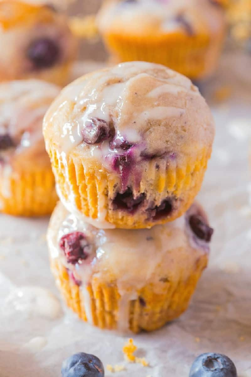 almond flour lemon blueberry muffins