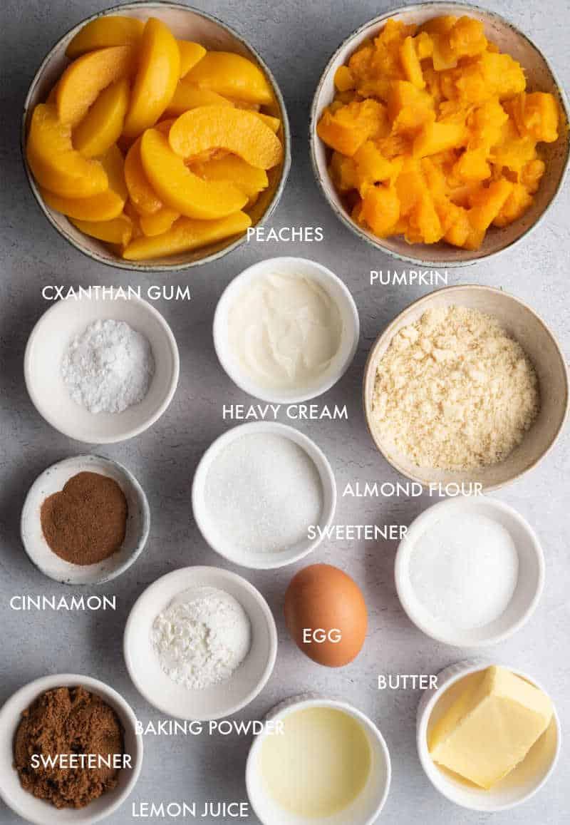 keto peach cobbler ingredients