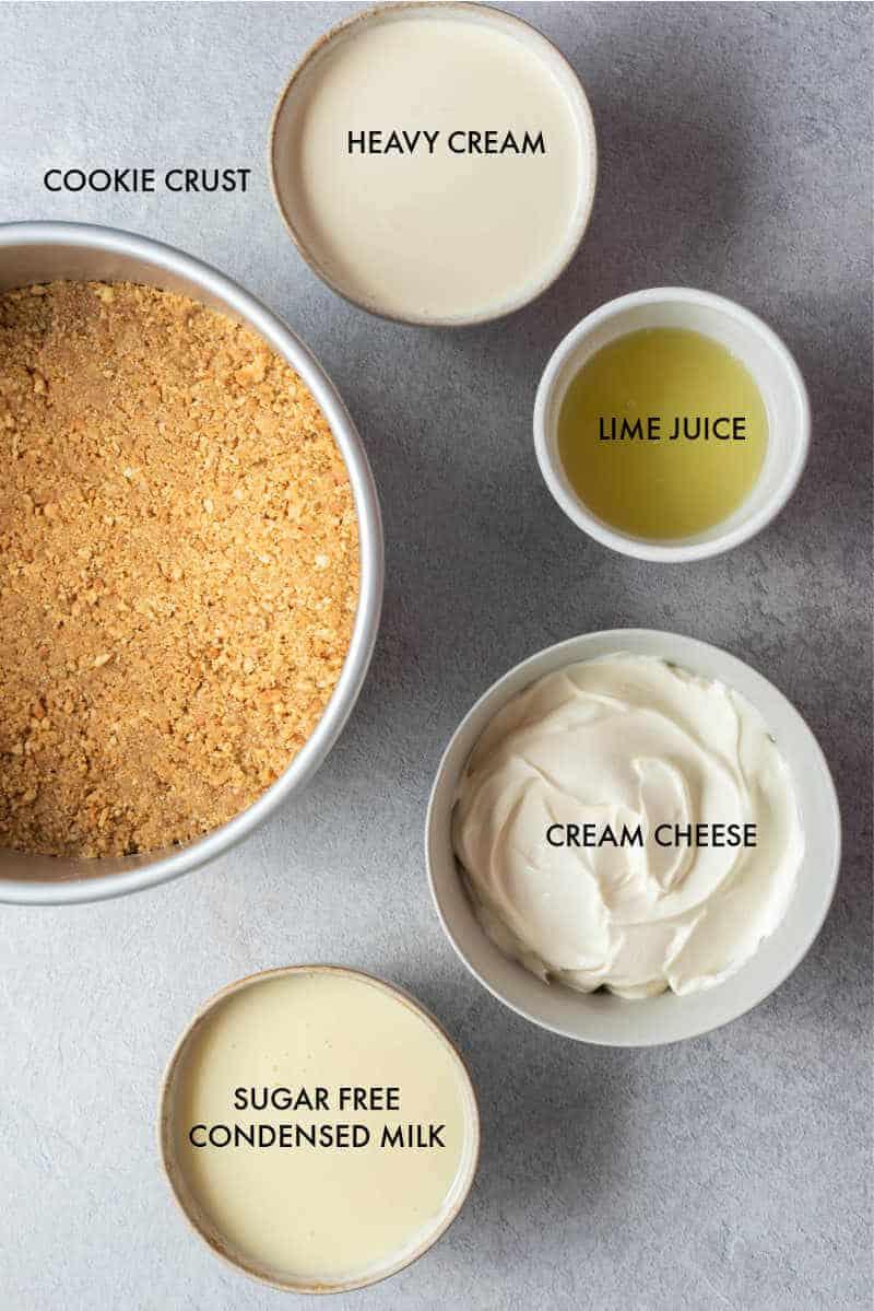 keto key lime pie ingredients