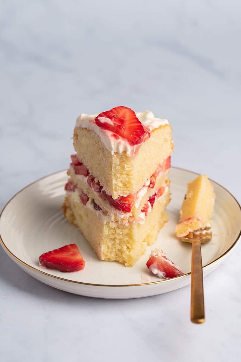 almond flour strawberry shortcake